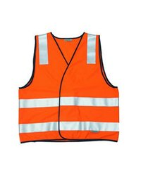 Half Sleeve Fluorescent Reflective Jacket