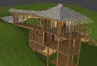 Wooden Tree Gazebo House