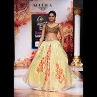 Orange And Beige Lehenga