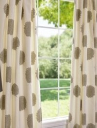 Cotton Dotted Printed Curtain