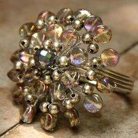 Glass Bead Metal Napkin Ring