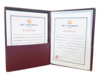 Leatherite Convocation Files -Maroon Color