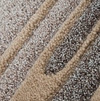 Brown and Beige Pepper Handloom Woolen Carpet