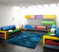Myriad Blue Shaggy Carpet