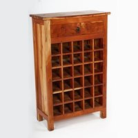 Wooden 30 Wine Bottle Holder / 1 Drawer Wine Rack Cabinet