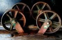 Durable Wooden Cart Iron Wheels