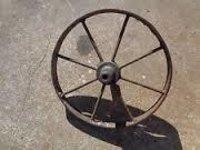 Wooden Cart Wheels Iron