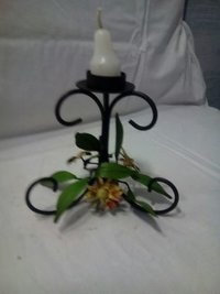 Iron Leaf Candle Stand