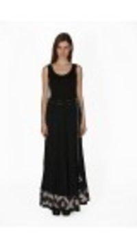 Black Cotton Crinkled Skirt