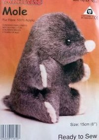 Fur Fabric Mole Toys