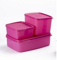 3 Pc. Mini Fridge Set-Pink