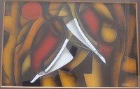 Modern Designer Glass Paintings