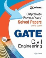 Chapterwise Gate Solved Papers (2015-2000) Civil Engineering Book