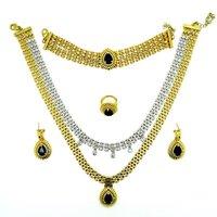 Unique Designer Ethnic Necklace Set Dark Blue