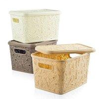 Floria Lace Storage Basket (W/H Lid)