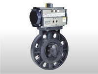 Pneumatic Rotary Actuator Operated Upvc Butterfly Valve