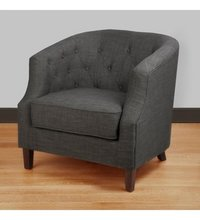 Wooden Charcoal Fabric Chair