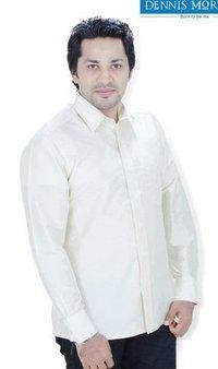 Men'S Lemon Chiffon Parinaya Silk Shirt