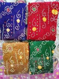 Ladies Cotton Bandhani Dress