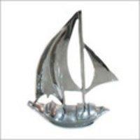 Nickel Finish Aluminium Boat Model