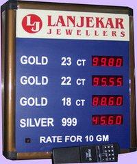Fine Finish Jewellery Rate Display Board