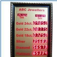 Reliable Jewellery Rate Display Board