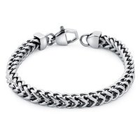 Square Wheat Link Bracelet