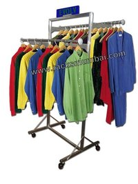 Both Sided Garment Hanging Stand