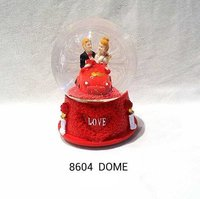 Glass Globe Dome Valentine Gift
