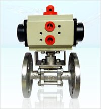 Pneumatic Rotary Actuators With Ball Valve in Vasai