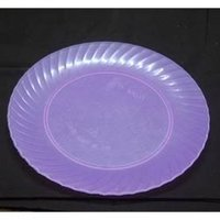Round Shape Colored Plastic Plates