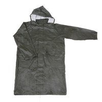 R-24017 Green Pu Long Rain Mens Waterproof Jackets