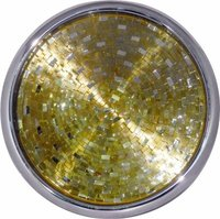 Stainless Steel Handcrafted Round Trays With Gold Mosaic Finish