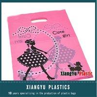 Custom Printed Plastic Die Cut Handle Bags