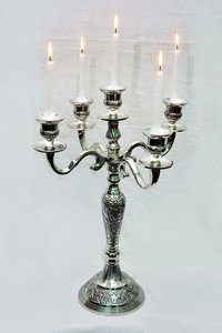 Aluminium Emboss Candle Stands