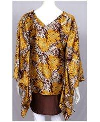 Abstract Satin Jacket Dress