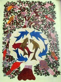 Gond Painting On Canvas