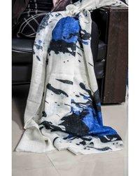 Cashmere Slubby Blue Spots Shawl