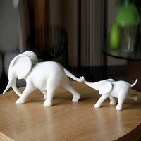 Polyresin White Elephants