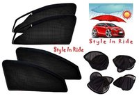 Style In Ride Foldable & Zipper Magnetic Car Sun Shades - Set Of 4