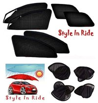 Style In Ride Foldable & Zipper Magnetic Car Sun Shades - Set Of 6