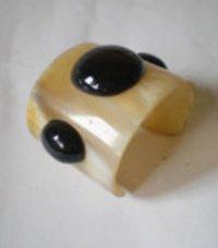 Finest Resin Black Stone Cuff