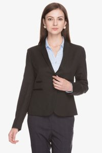 Women Solid Full Sleeves Blazer