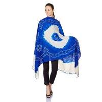 Blue Cream Shawl Wrap