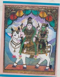 Shiv Tanjore Painting