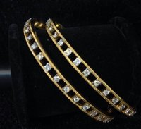Traditional Diamond Bangles In Gold