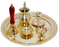 Brass Diwali Holi Navratri Raksha Bandhan Pooja Thali