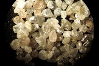 Clear White Natural Raw Uncut Rough Octahedron Diamond