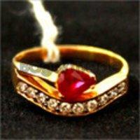 Stylish Look Diamond Gold Ring