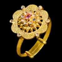 Stylish Look Ladies Gold Rings